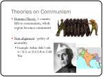 theories on communism