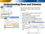 understanding rows and columns3