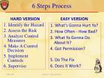 6 steps process