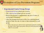 evaluation of loss prevention programs1