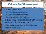 colonial self government