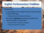 english parliamentary tradition1