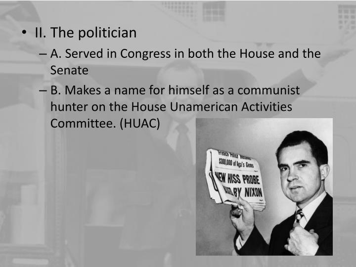 II. The politician