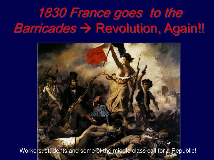 1830 France goes  to