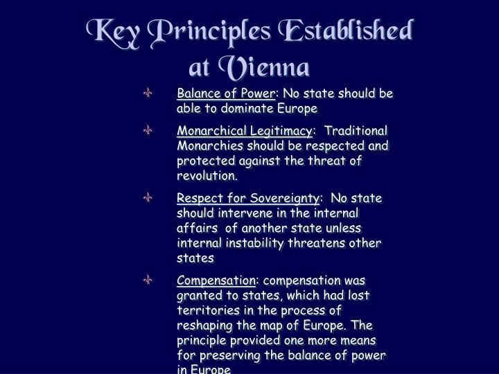Key Principles Established