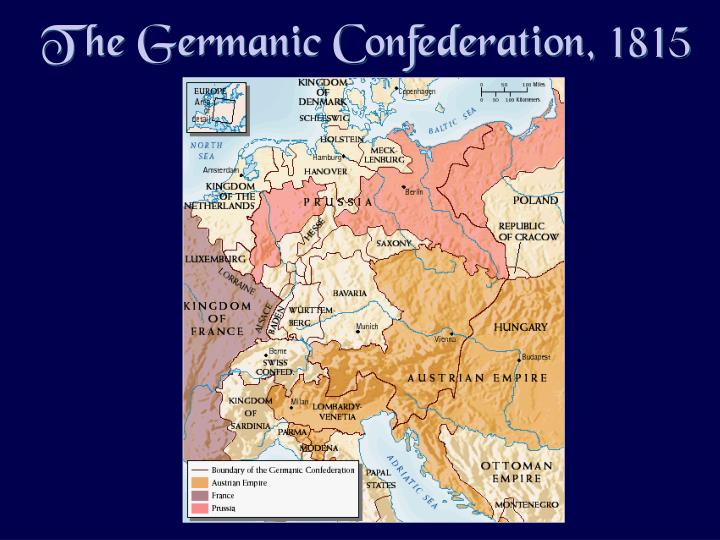 The Germanic Confederation, 1815