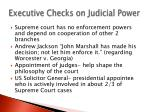executive checks on judicial power