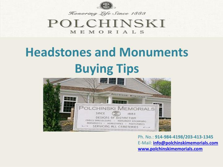 headstones and monuments buying tips n.