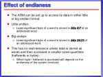 effect of endianess