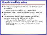 move immediate value
