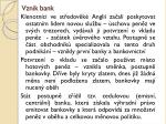 vznik bank