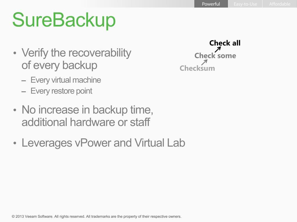PPT - Veeam Backup & Replication and Nimble Storage CS