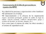 consecuencias de la falta de prevenci n en cuanto a los rpst