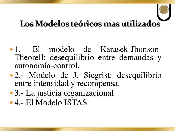 Los Modelos teóricos mas utilizados