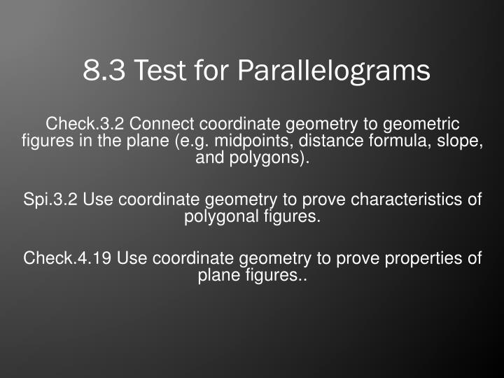 8 3 test for parallelograms n.