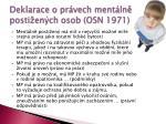 deklarace o pr vech ment ln posti en ch osob osn 1971