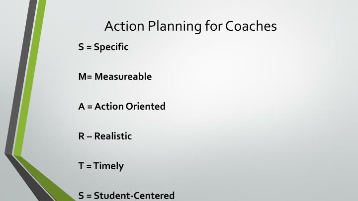 Action Planning for Coaches