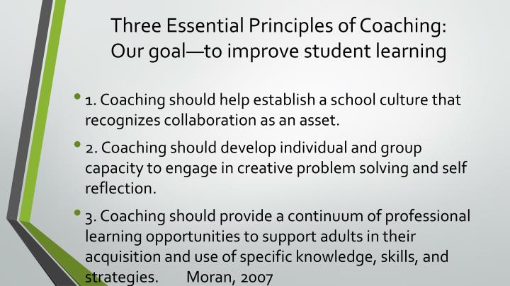 Three Essential Principles of Coaching: