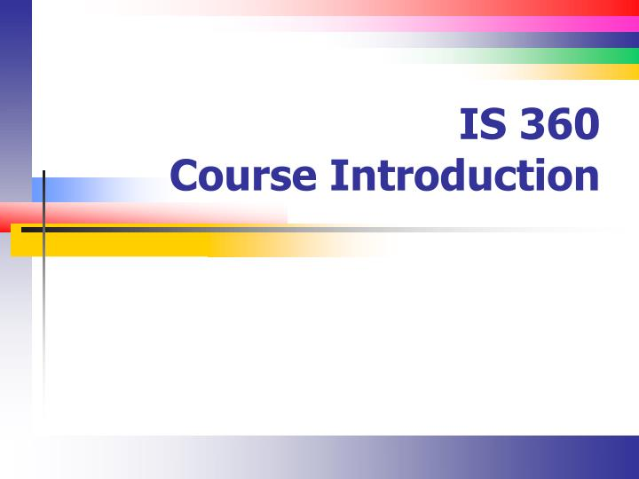 Is 360 course introduction