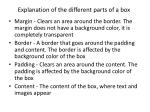 explanation of the different parts of a box