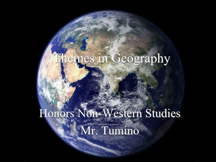 themes in geography n.