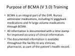 purpose of bcma v 3 0 training