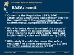 easa remit