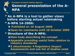 general presentation of the a npa