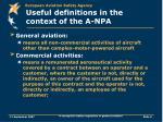 useful definitions in the context of the a npa
