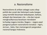 a nasionalisme