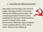 c sosialisme komunisme