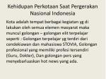 kehidupan perkotaan saat pergerakan nasional indonesia