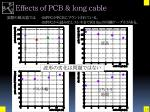 effects of pcb long cable