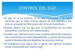 control del ego