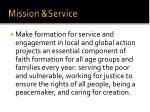 mission service