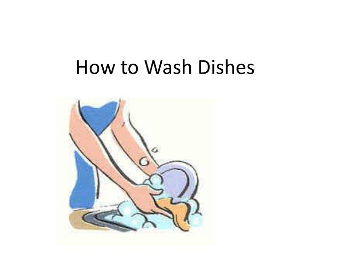 how to wash dishes n.