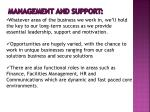 management and support