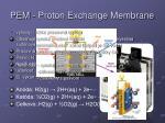 pem proton exchange membrane