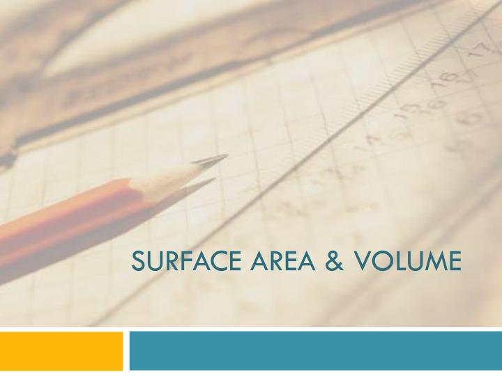 surface area volume n.