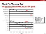 the cpu memory gap