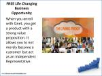 free life changing business opportunity