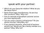 speak with your partner
