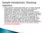 sample introduction shocking statistics