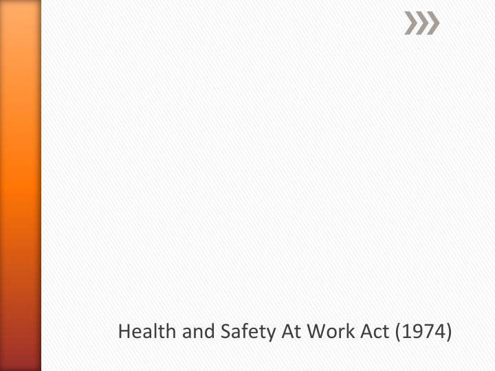 health and safety at work act 1974 n.