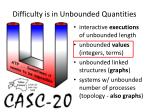 difficulty is in unbounded quantities