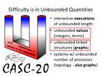 difficulty is in unbounded quantities1