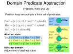 domain predicate abstraction podelski wies sas 051