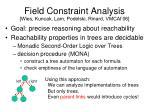 field constraint analysis wies kuncak lam podelski rinard vmcai 06