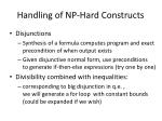 handling of np hard constructs