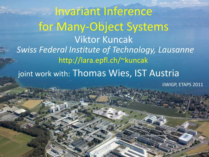 invariant inference for many object systems n.
